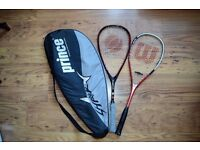 TWO Squash Racquets (Wilson and Olimpus ), almost NEW, with case £ 20