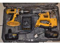 dewalt drill and jigsaw - 18v.