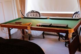 """Snooker & pool table - Ideal xmas present - 2 sets of balls, cues and accessories 6' 3"""" x 3' 3"""""""