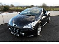 07 PEUGEOT 307CC 2.0 HDI 136 SPORT COUPE CABRIOLET ++ LONG MOT , FULL LEATHER & 45+ MPG ++