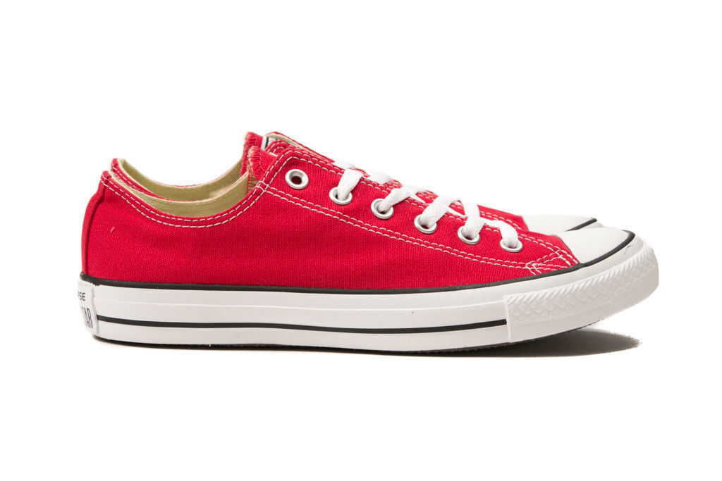 Converse Chuck Taylor All Star Red Low Top OX M9696 Canvas New in Box