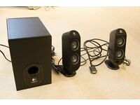 Logitech X-230 Speakers - 2 side speakers and 1 subwoofer. Great sound, great condition.