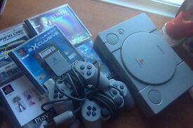 Playstation 1 w/ games, controllers and cables...