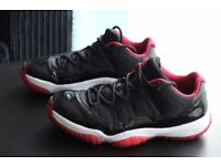 Air Jordan 11 Retro Low BRED Black and Red UK 9