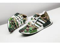 Adidas NMD R1 Bape Bathing Ape Green Camo Camouflag