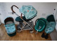 Mamas & Papas Urbo 2 Donna Wilson pram travel system with car seat 3 in 1 can post