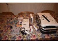 Nintendo wii console + Wii fit and games