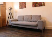 Made dot com Vittorio Pearl Grey 3 Seater Sofa - RRP £1,398 !!