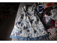 Blue and white prom dress. Size 16