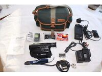 Sony Handycam Video 8 plus adaptors, batteries, cassettes, instructions and carry case