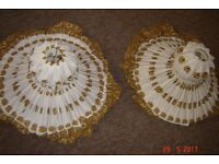 pair of fabric lamp shades