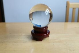 Clear crystal ball with stand - 100mm diameter £7