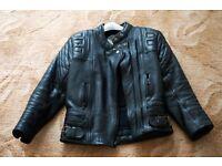 Ladies, stylish leather motorcycle jacket