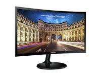 PC Monitor - Samsung C24F390 24-Inch Curved LED Monitor - Black Gloss