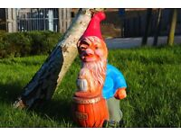 Large Garden Gnome Ornament - Garden Decorations Patio Lawn 45CM TALL