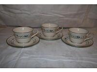 Noritake Japanese china- 3 teacups and 3 saucers