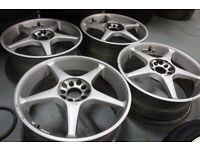 Genuine Kosei 18x7J 5x100 5x114.3 alloy wheels Made in Japan Rare Subaru Mitsubishi Honda NissanJDM