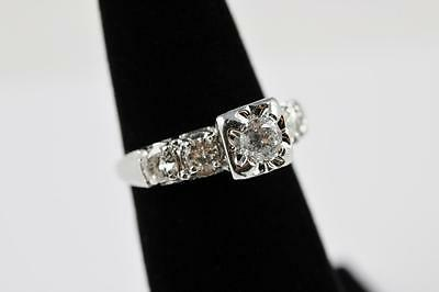 Изображение товара Vintage Diamond 14K White Gold Aprox 1.25ctw Diamonds Size 6.5 Engagement Ring