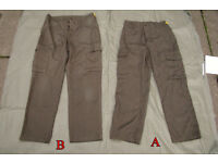 pair of Austrian Army Fatigue Trousers - Dyed, ideal for Bush Craft (Grade2)