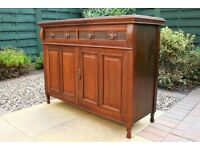 Stunning Antique Carved Solid Mahogany Sideboard