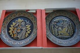 Set of 2 Tutankhamen Egyptian collection Denby plates