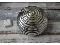 Flos Splugen Brau Designer Pendant Ceiling Light Polished Silver Aluminium