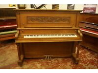 Large American upright piano, tuned and UK delivery available