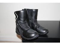 NEW Spada waterproof motorcycle leather boots black (size UK 6, 40, US 7)