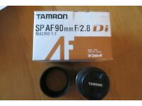 tamron AF90mm F2.8 Di macro 1:1 lens model 272E canon fit with pouch