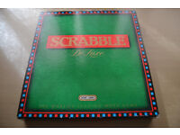 2 Board Games Scrabble Deluxe And CLUEDO Classic Murder Mystery