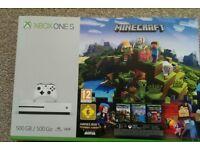 Xbox One S 500GB + Minecraft + Xbox Live GOLD SEALED UNOPENED