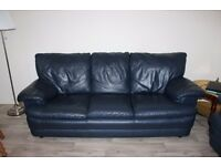 NAVY BLUE TWO PIECE SUITE - 3 & 2 SEATER SOFAS
