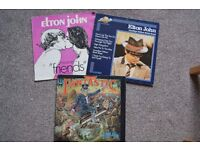 "3 x ELTON JOHN 12"" VINYL ALBUMS - CAPTAIN FANTASTIC / GOODBYE YELLOW BRICK ROAD /FRIENDS"