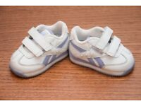 baby girl infant shoes REEBOK size 1 1/2, 8 cm