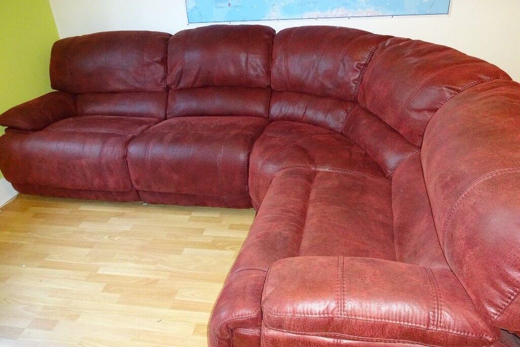 Enjoyable Harveys Senator Dble Manual Recliner Corner Couch Red In Stirling Gumtree Creativecarmelina Interior Chair Design Creativecarmelinacom