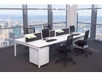 CALL CENTRE BENCH DESKS- WHITE BRAND NEW INCREDIBLE PRICE - 1200MM X 700MM SCREENS AVAILABLE