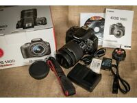 Canon EOS 100D DSLR with 18 - 55mm STM IS Lense plus two spare batteries & 4GB SD card