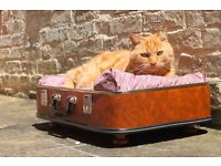 Cat/Dog Bed | Upcycled vintage suitcase