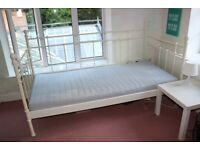 Ikea Single white metal day bed