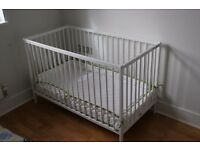 Ikea baby cot including mattress