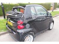 SMART CAR FORTWO CABRIO 08 1.0 MHD PASSION AUTOMATIC 46K CONVERTIBLE 2DR BLACK NO AYGO iQ