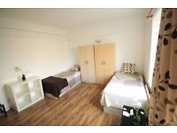 MASSIVE TWIN ROOM FOR TEMPORAL HOUSE IN MANOR HOUSE JUST 5 MIN TO STATION £210/WEEK//13M