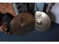 "Zildjian Avedis Custom Crash 18"" Ride 20"