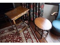 Two small Victorian tables