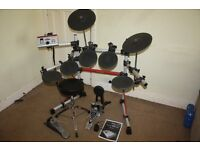 Yamaha DTXpress IV Electronic Drum Kit complete with Headphones and Stool (and even Drum Sticks)