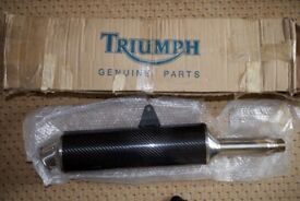 Triumph 955i carbon exhaust. Used for a couple of months , so as new condition in original box