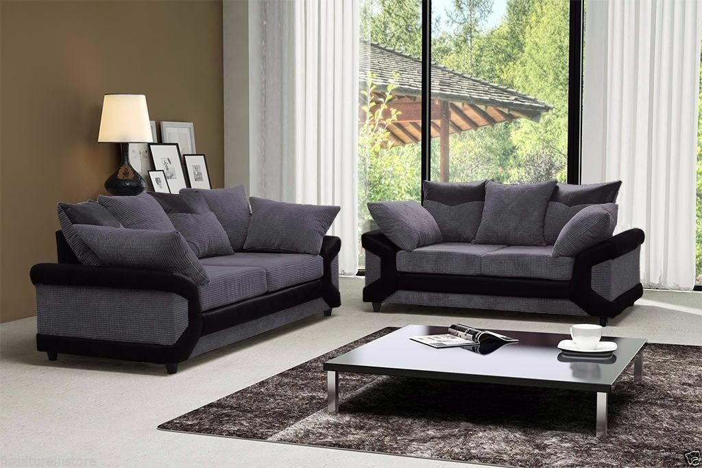 Jumbo Dianer CORD FABRIC CORNER SOFAS AND 3 AND 2 SEATER SUITESin Farnham, SurreyGumtree - CON.TACT INFOR IN THE FOLLOWING PIXTURES or 07903198072 BRAND NEW STYLISH DEENO SUITES AVAILABLE IN DOUBLE TONE COLOR BLACK GREY OR BROWN BEIGE RECOMMENDED RETAIL PRICE 599 OUR PIRCE 349 FOR 32 OR CORNER SUITE DIMENSIONS Corner to armrest 250cm...
