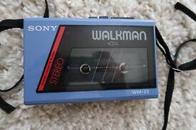 Original Sony Walkman WM-22 Cassette