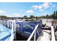 TRENDY & QUIRKY House Boat To Rent In Kew Bridge *BILLS INCLUDED*