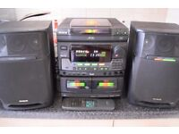 AIWA 3 CD CHANGER RADIO DOUBLE CASSETTE WITH REMOTE